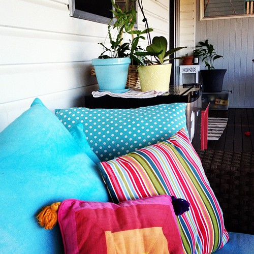 Amount up the colour on the deck for Spring.