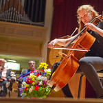 12-019 -- Music at the New Student Convocation featured class member Elena Denny '16 on cello.