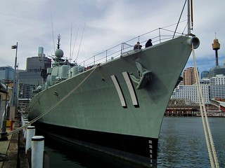 Imagem de HMAS Vampire perto de Pyrmont. new museum wales harbour vampire south class destroyer national maritime nsw darling daring hmas