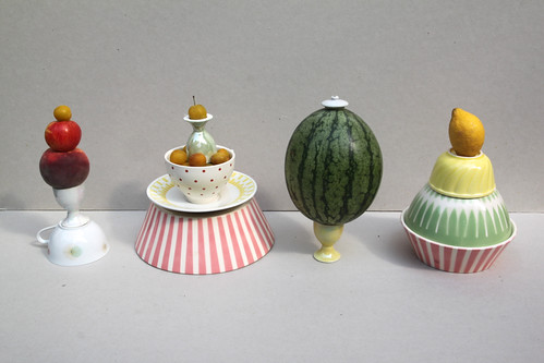 fruit sculptures