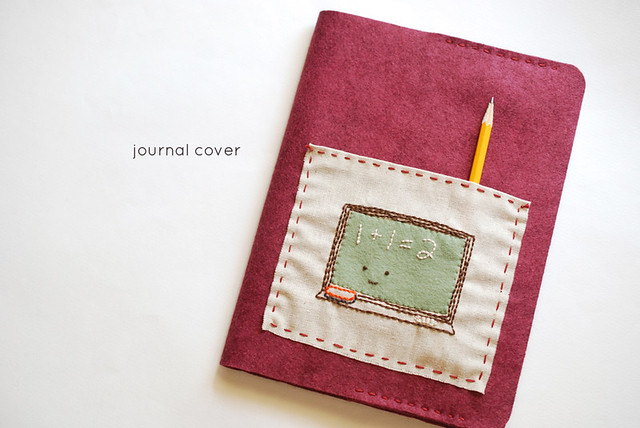Felt Book Cover Diy : Wild olive project felt journal cover with pocket