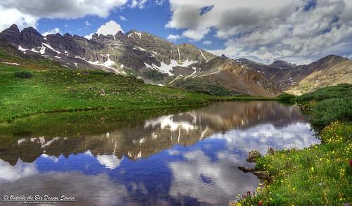reflection colorado rockymountain wildflowers aspen pearlpass pitkincounty