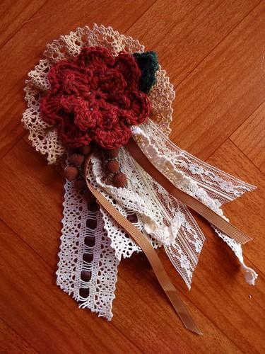 handmade mori girl brooch