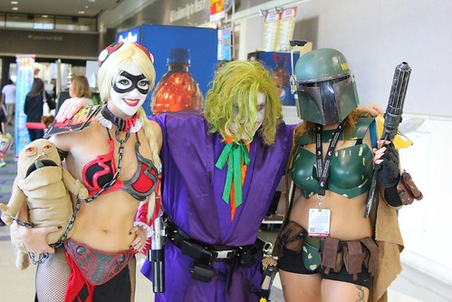 Joker Jedi, Harley Quinn Slave Leia, and Female Boba Fett - Star Wars Celebration VI