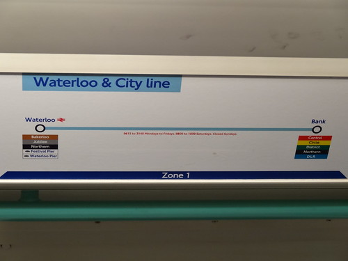 Waterloo And City Line Station Map