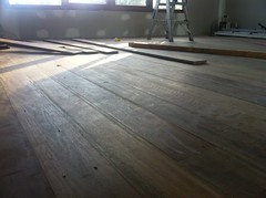 Loft floor in progress 1