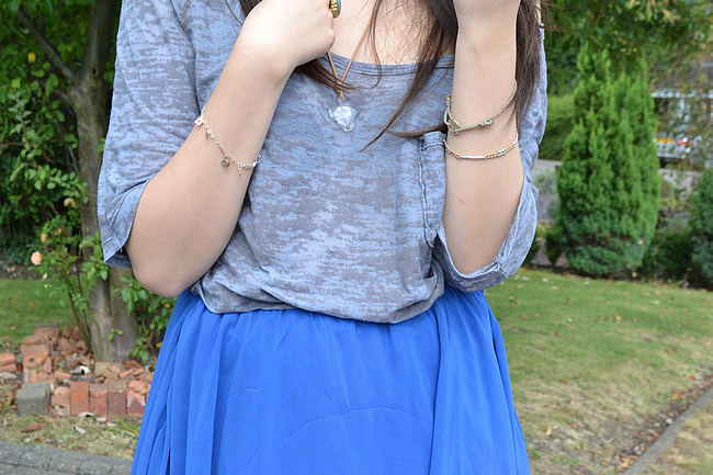 daisybutter - UK Style and Fashion Blog: what i wore, outfit post, AW12, glamorous waterfall skirt, dipped hem, asos aggie boots