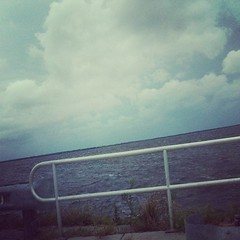 "Charlotte Harbor getting choppy & the sky has that ""I'm up 2 something"" look #swfl #weather #Isaac"