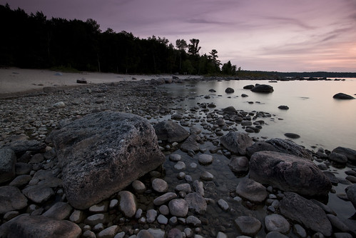 sunset summer ontario canada georgianbay rocky shore erratics awenda awendaprovincialpark