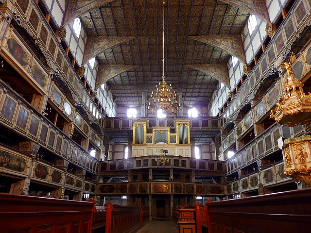 Interior of the peace church in Jawor, Poland (Unesco WHS)