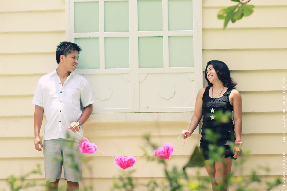 Plantation Bay Cebu Engagement Session, Cebu Vintage Engagement Session