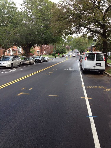 New Sharrows on Sargent Road NW