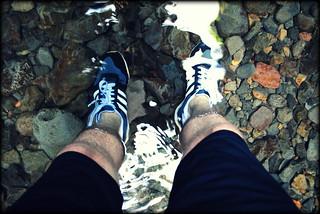 Treking upstream through Oneonta Gorge