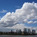 The giant cloud over Canary Wharf