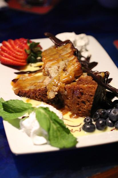 Bourbon Bread Pudding, Blu Que Island Grill, Siesta Key, Sarasota, FL