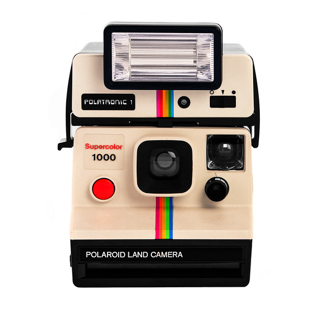 polaroid land camera supercolor 1000 with polatronic 1 flash a photo on flickriver. Black Bedroom Furniture Sets. Home Design Ideas