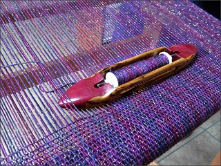 Bluberrry Thrill shawl, in progress