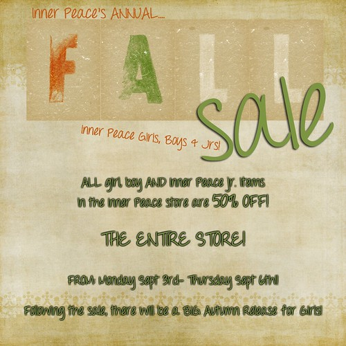 Inner Peace Fall Sale 2012!