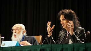 James Randi and Alice Cooper