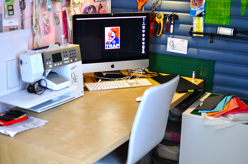 Computer in corner!
