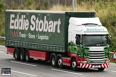 Scania R440 6x2 Tractor - PE11 CSU - Daisy Mae - Green & Red - Eddie Stobart - M1 J10 Luton - Steven Gray - IMG_6130