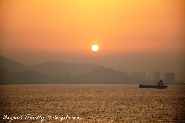 glorious sunset in penang