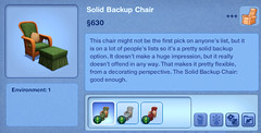 Solid Backup Chair