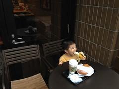 スタバでバナナ(80円) - 朝散歩 (2012/9/8)
