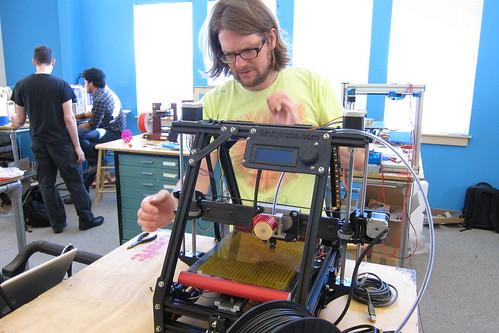 Photo:MAKE: Magazine 3D Printer Workshop