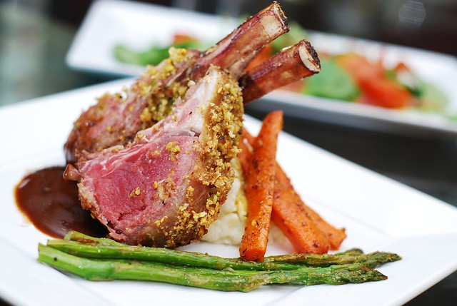 pistachio crusted rack of lamb for dinner
