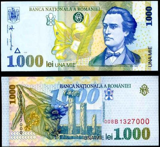 1000 Lei Rumunsko 1998, Pick 106