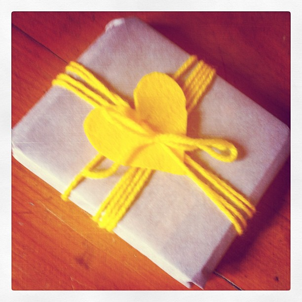 Happy little ray of sunshine all gift wrapped and on its way out into the world #giftwrapping #spiralgarden