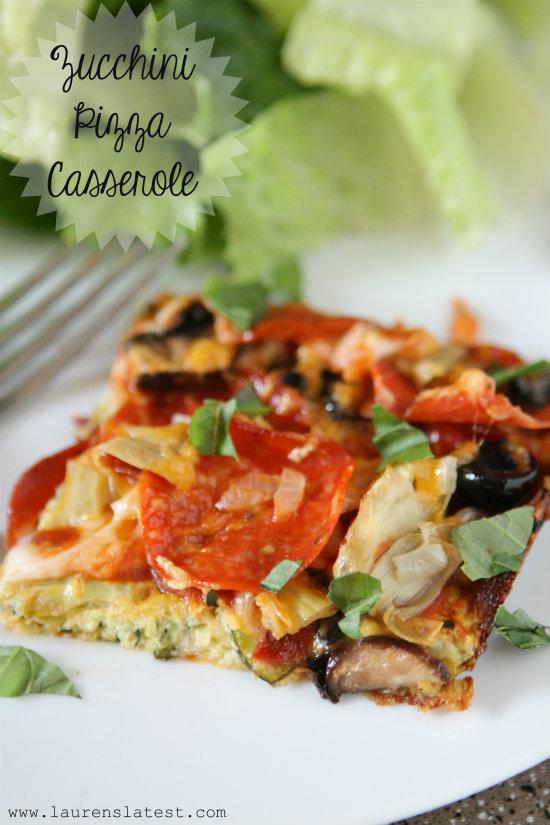 Zucchini Pizza Casserole 1