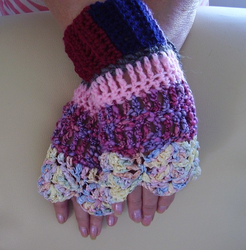 Bits & Bobs Wrist Warmers by CrocKnits