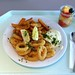 Calamari mit Remoulade & Country Potatoes / Calamari with remoulade & fried poatoes