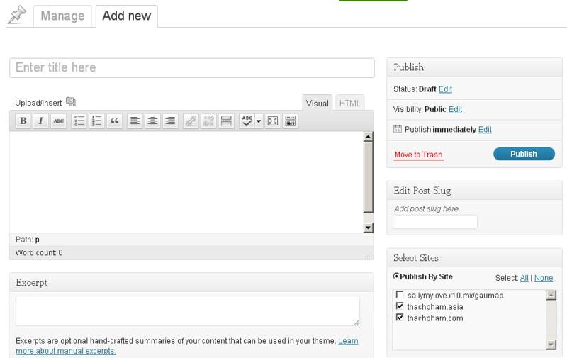 Quản lý nhiều blog WordPress cùng một lúc đơn giản với ManageWP 219