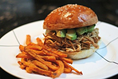 Pulled Mango Chicken Sandwich