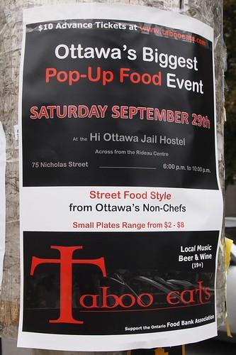 pop-up food event, sept 29