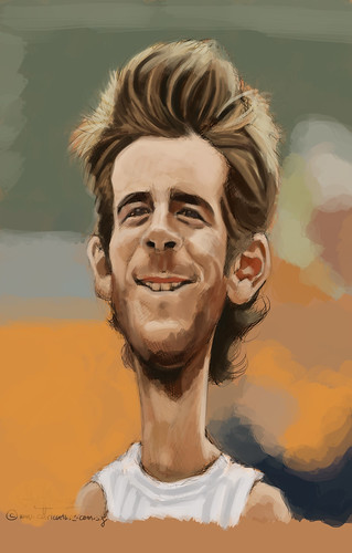 digital caricature sketch of Juan Martín del Potro - 1