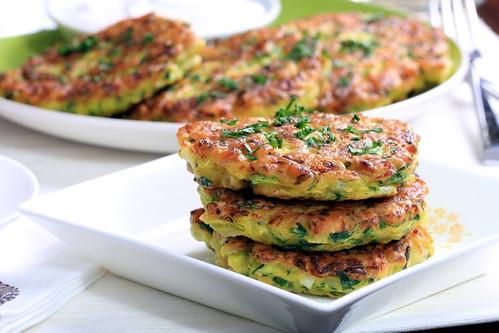 Zucchini and Lemongrass Fritters