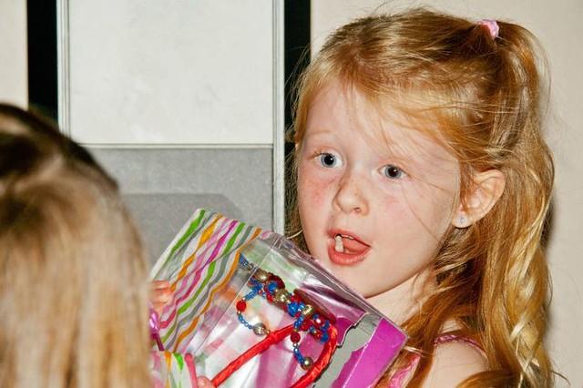 Emma loves her present! Photo by Mackenzie Brunson