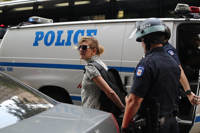 Woman arrested at Occupy Wall Street