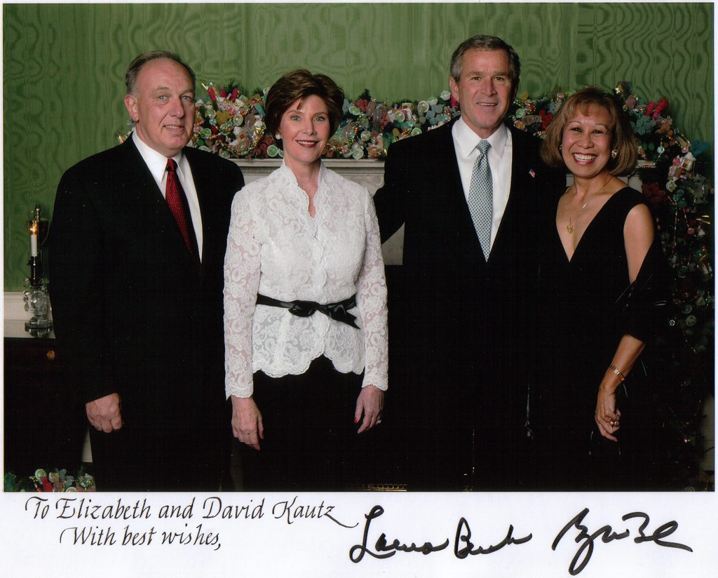 President and Mrs Bush David and Me Christmas Party 2003