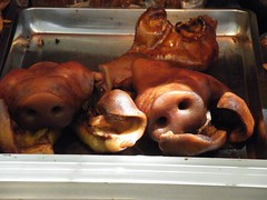 roasting, lechon, meat, food, dish, cuisine,