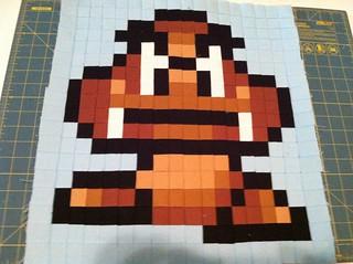 Mario Quilt Goomba Block