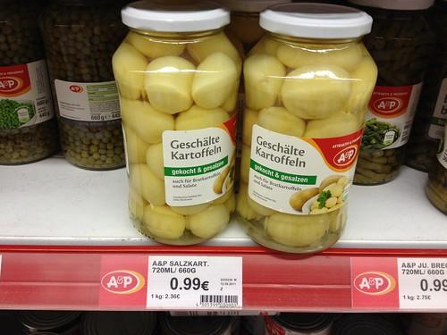 Salzkartoffeln als Konserve