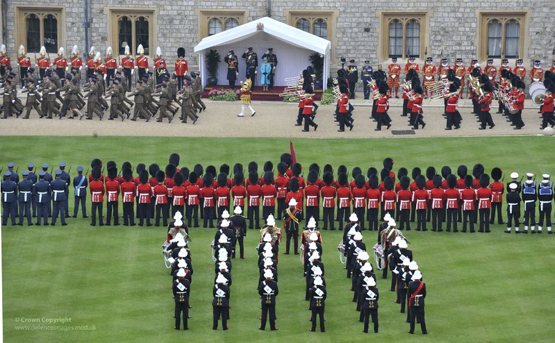 Queen's Diamond Jubilee Parade and Muster at Windsor Castle