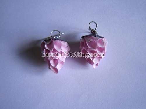 Handmade Jewelry - Paper Cone Strawberry Earrings by fah2305