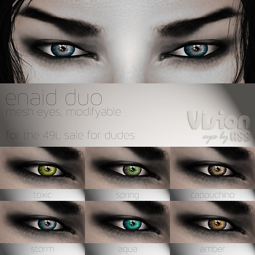 Vison by A:S:S - Mesh eyes for the 49L sale for dudes. by Photos Nikolaidis