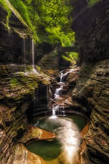 Rainbow falls of Watkins Glen.